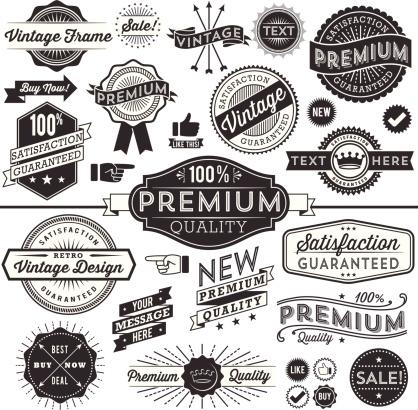 Vintage Copyspace Design Elements