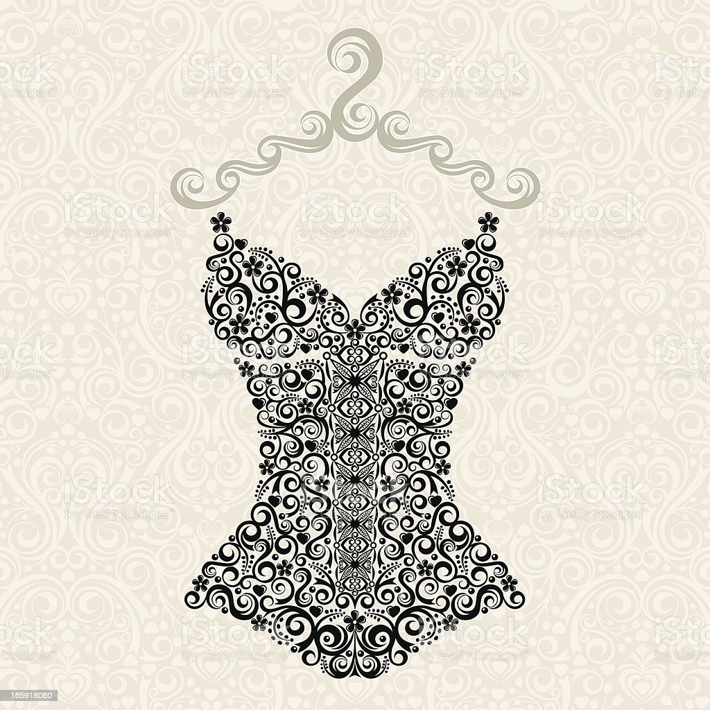 Vintage Corset royalty-free stock vector art