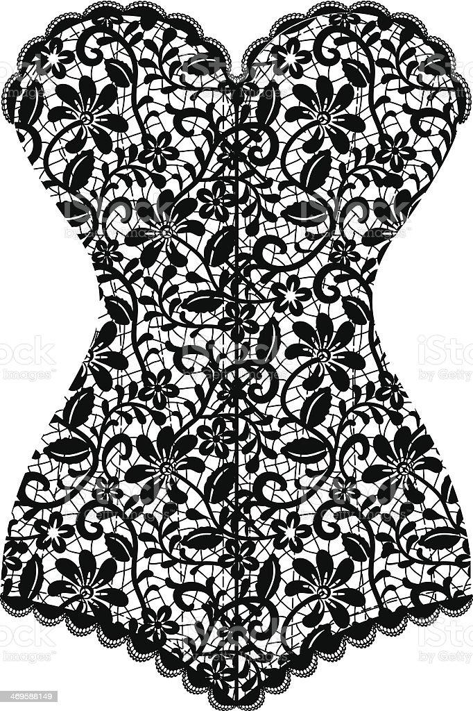 vintage corset vector art illustration