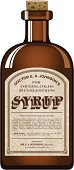 A vintage styled bottle with 'Cough Syrup' label. File contains simple gradients. Color swatches are global for easy color changes.