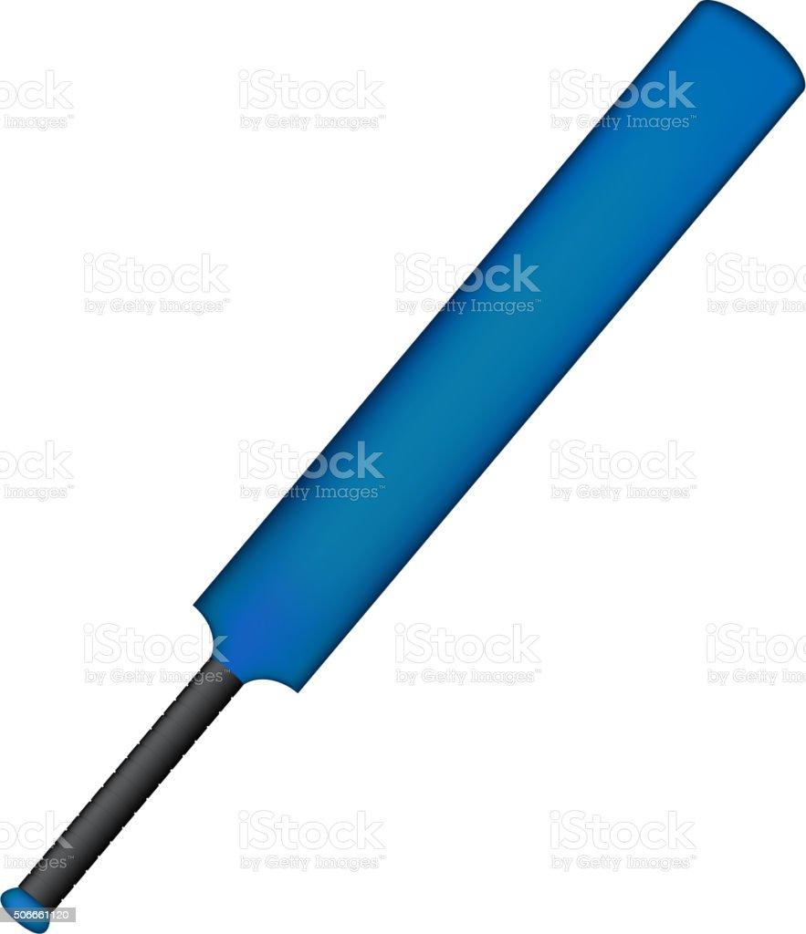 Vintage cricket bat in blue design vector art illustration