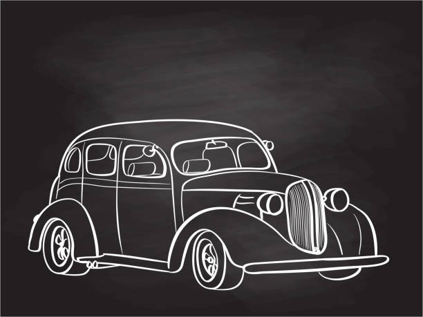 Vintage Cruiser Auto Tafel – Vektorgrafik