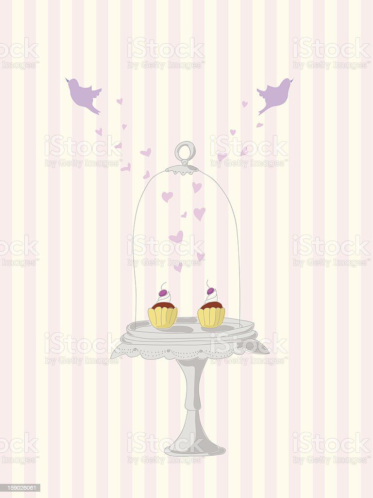Vintage cupcakes royalty-free stock vector art