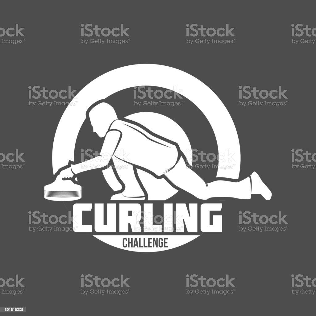vintage curling labels and design elements vector art illustration