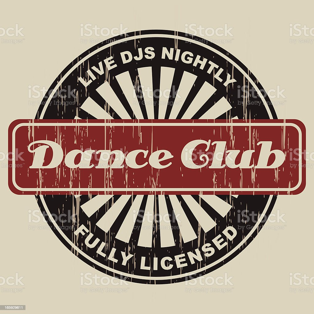Vintage Dance Club Label royalty-free vintage dance club label stock vector art & more images of alcohol