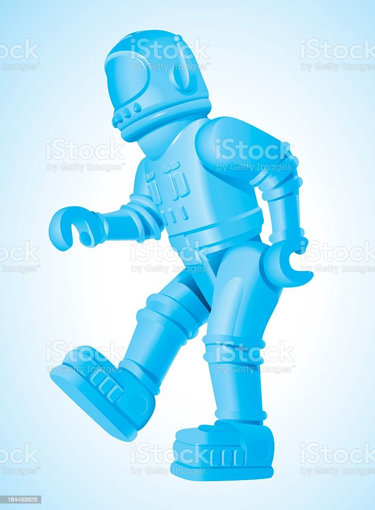 Vintage Dancing toy Robot vector art illustration
