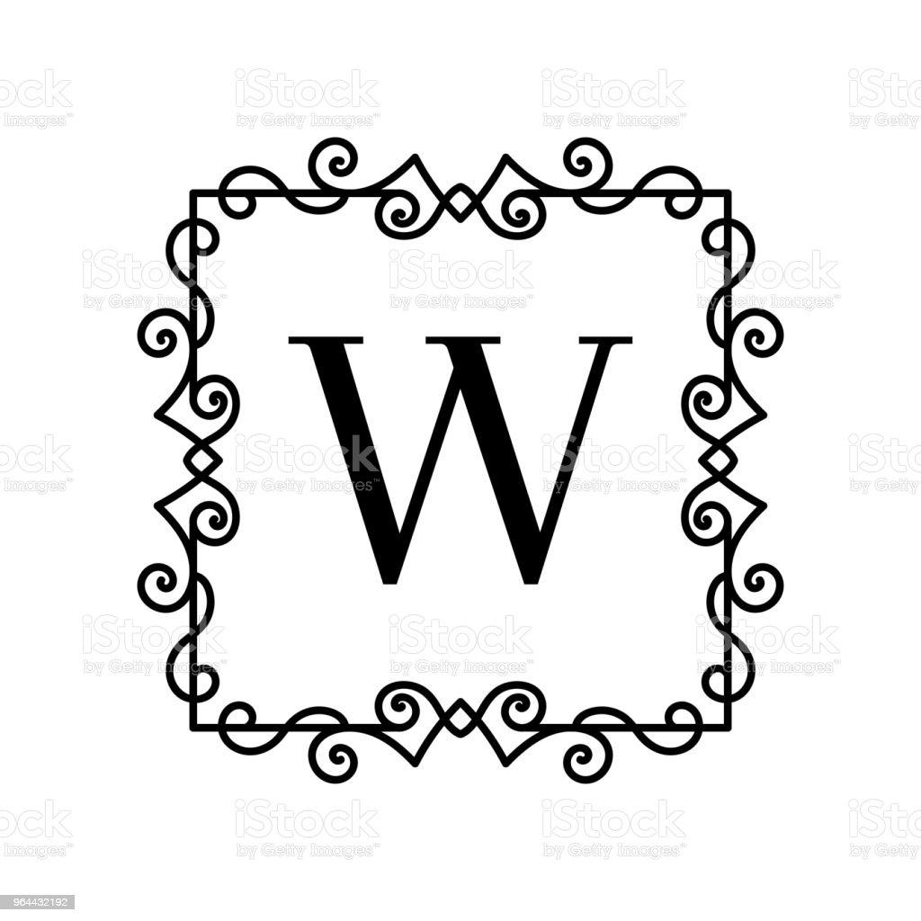 Decoração Vintage logotipo - Vetor de Antigo royalty-free