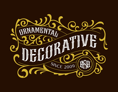 Vintage Decorative Badges Classic Label Hipster Logotype Design Element