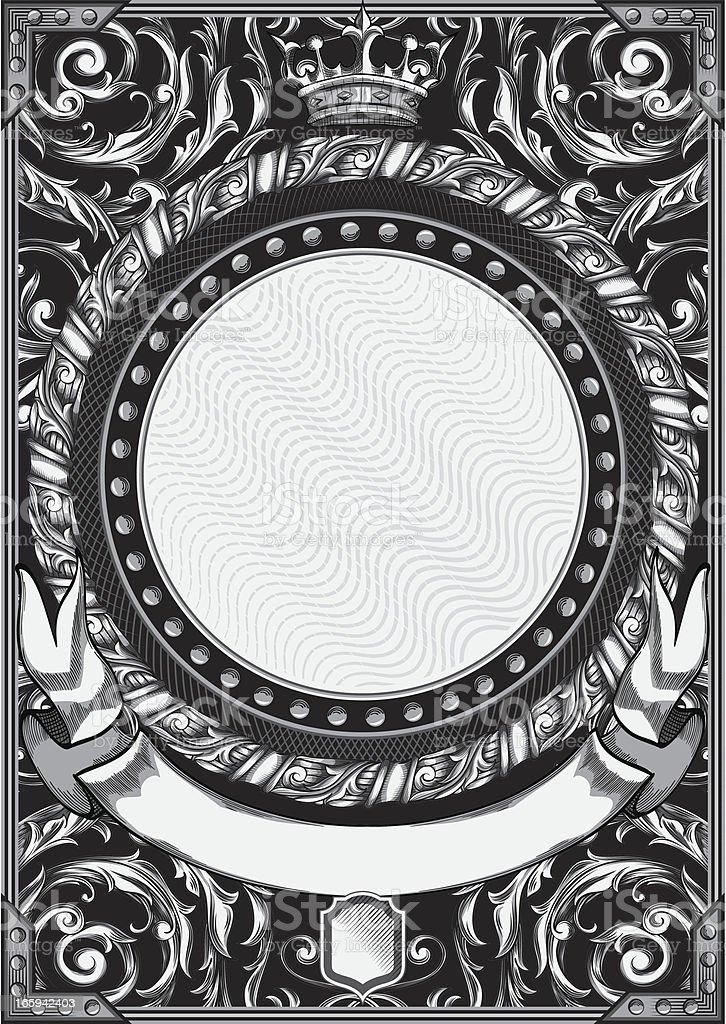 Vintage decorative blank royalty-free stock vector art