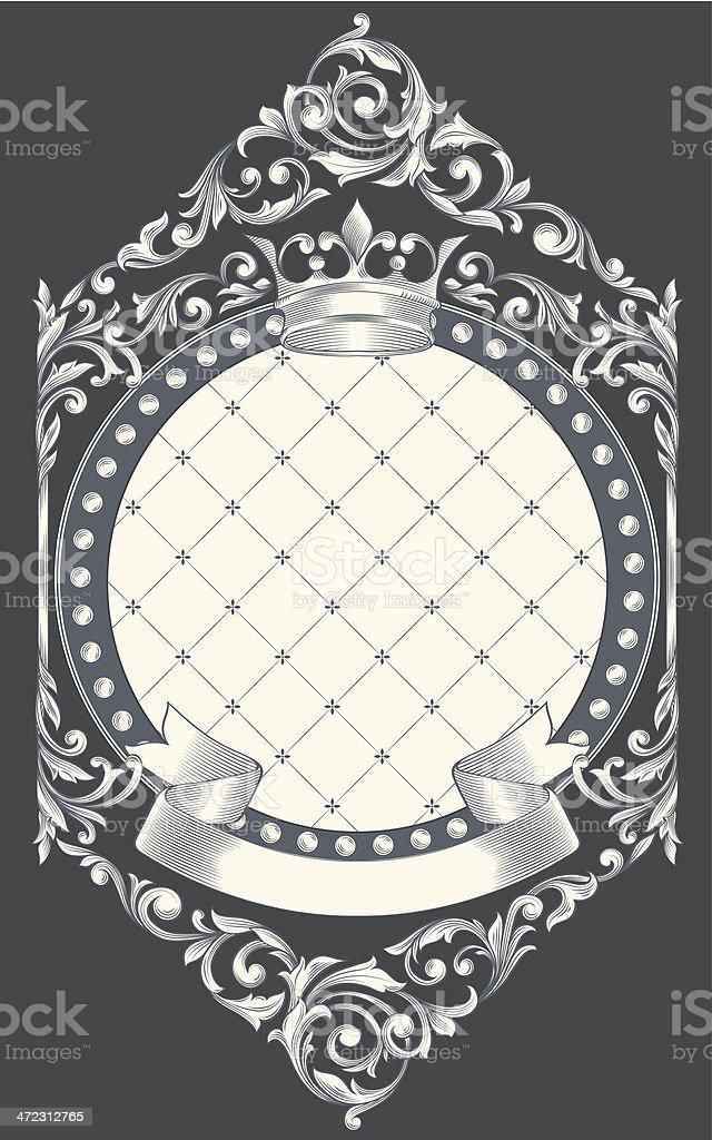 Vintage decorative card royalty-free stock vector art