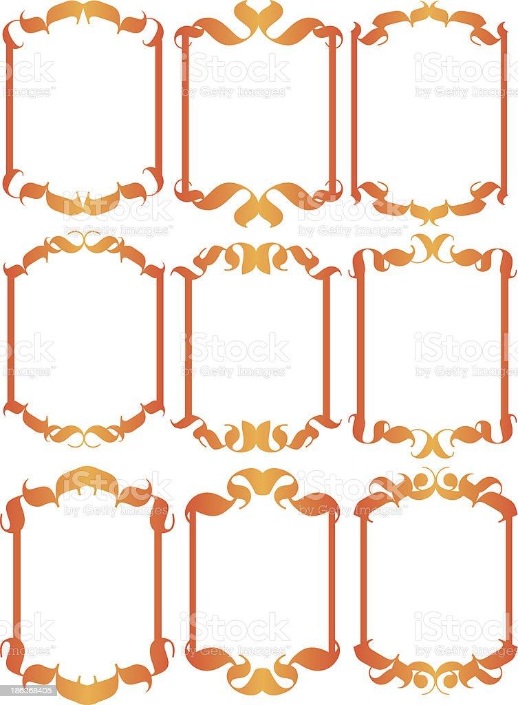Vintage decorative design elements royalty-free stock vector art