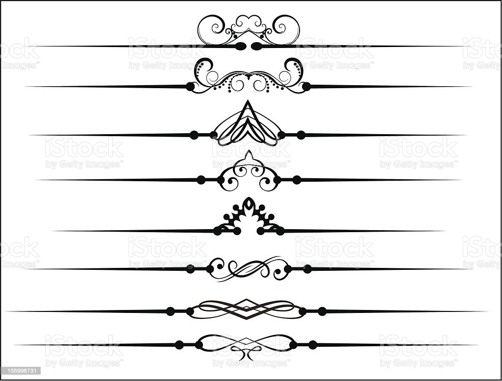 Vintage decorative design objects royalty-free stock vector art