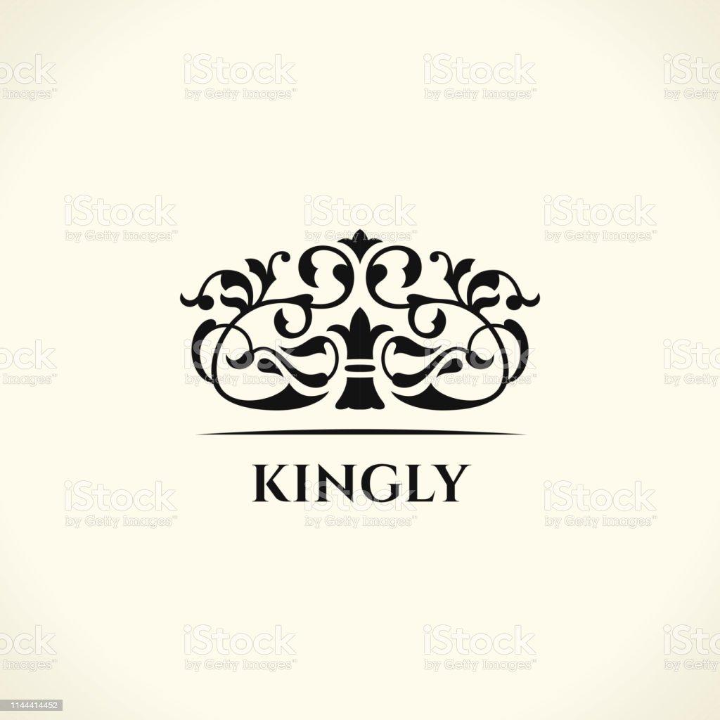 Vintage Elements. Flourishes Calligraphic Ornament. Elegant emblem...