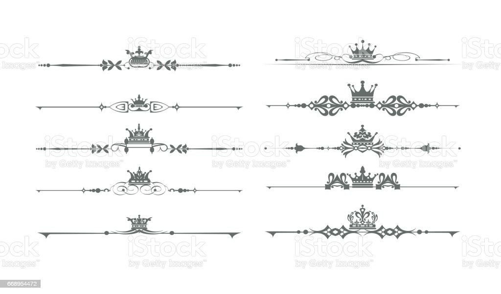 Vintage decorative elements for design