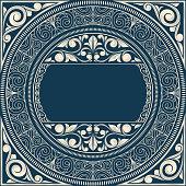Vintage decorative ornate design