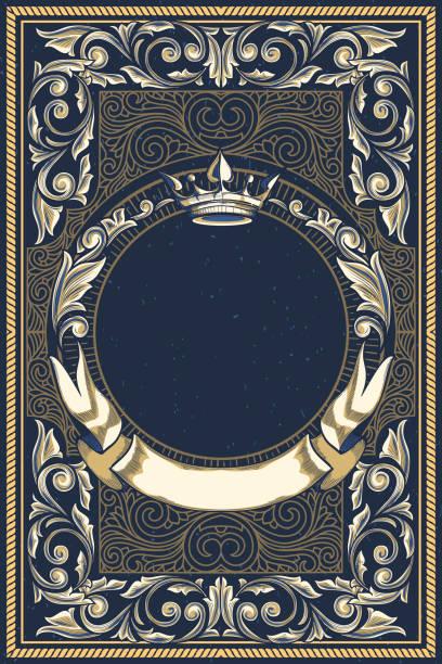 bildbanksillustrationer, clip art samt tecknat material och ikoner med vintage dekorativ utsmyckade design - gotisk stil
