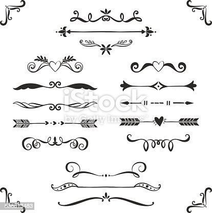 Vintage Decorative Text Dividers Collection Stock Vector
