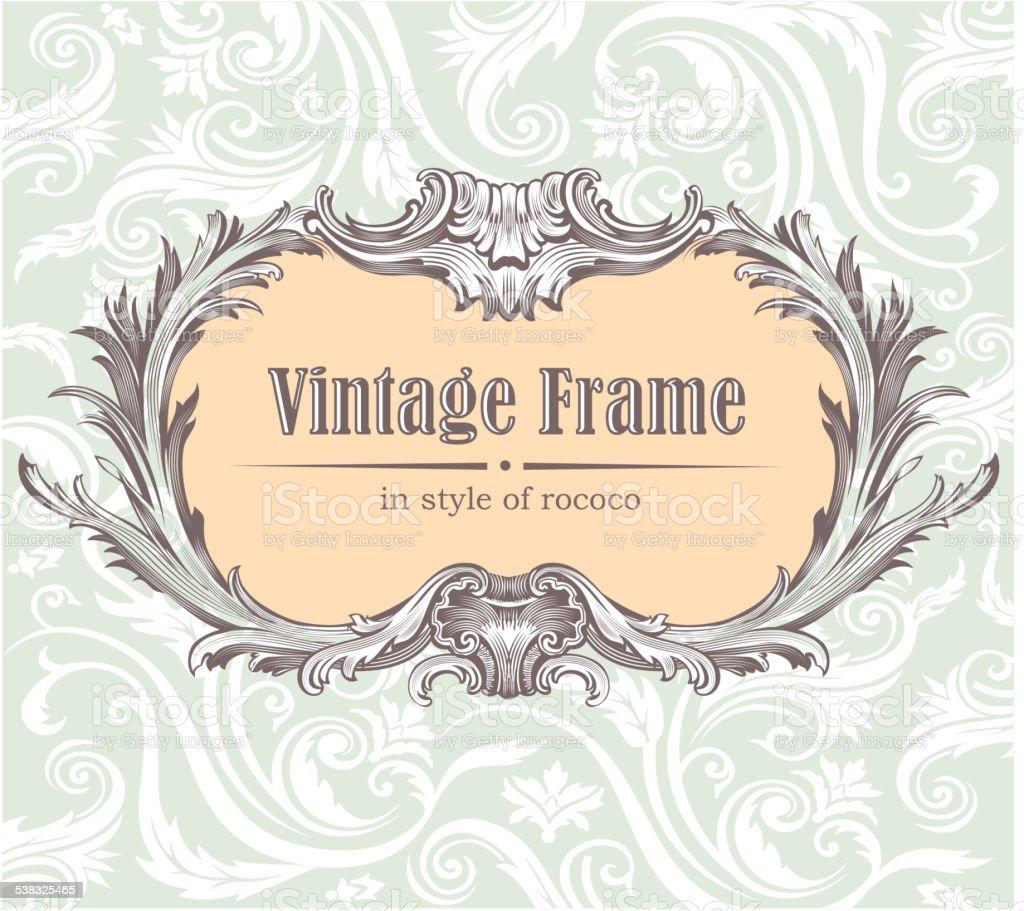 Vintage decorative vector frame vector art illustration