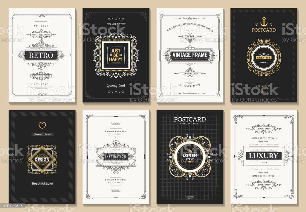 빈티지 디자인식 카드 royalty-free 빈티지 디자인식 카드 0명에 대한 스톡 벡터 아트 및 기타 이미지