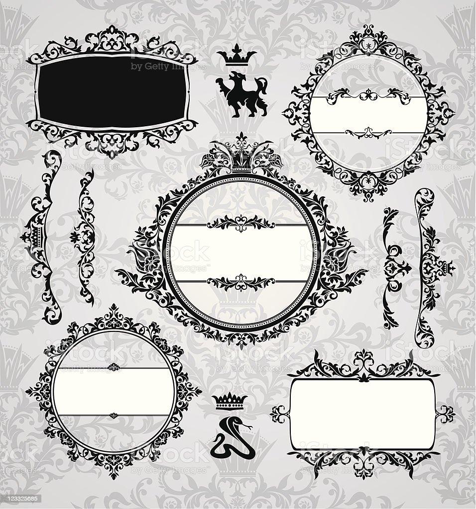 vintage design elements royalty-free stock vector art