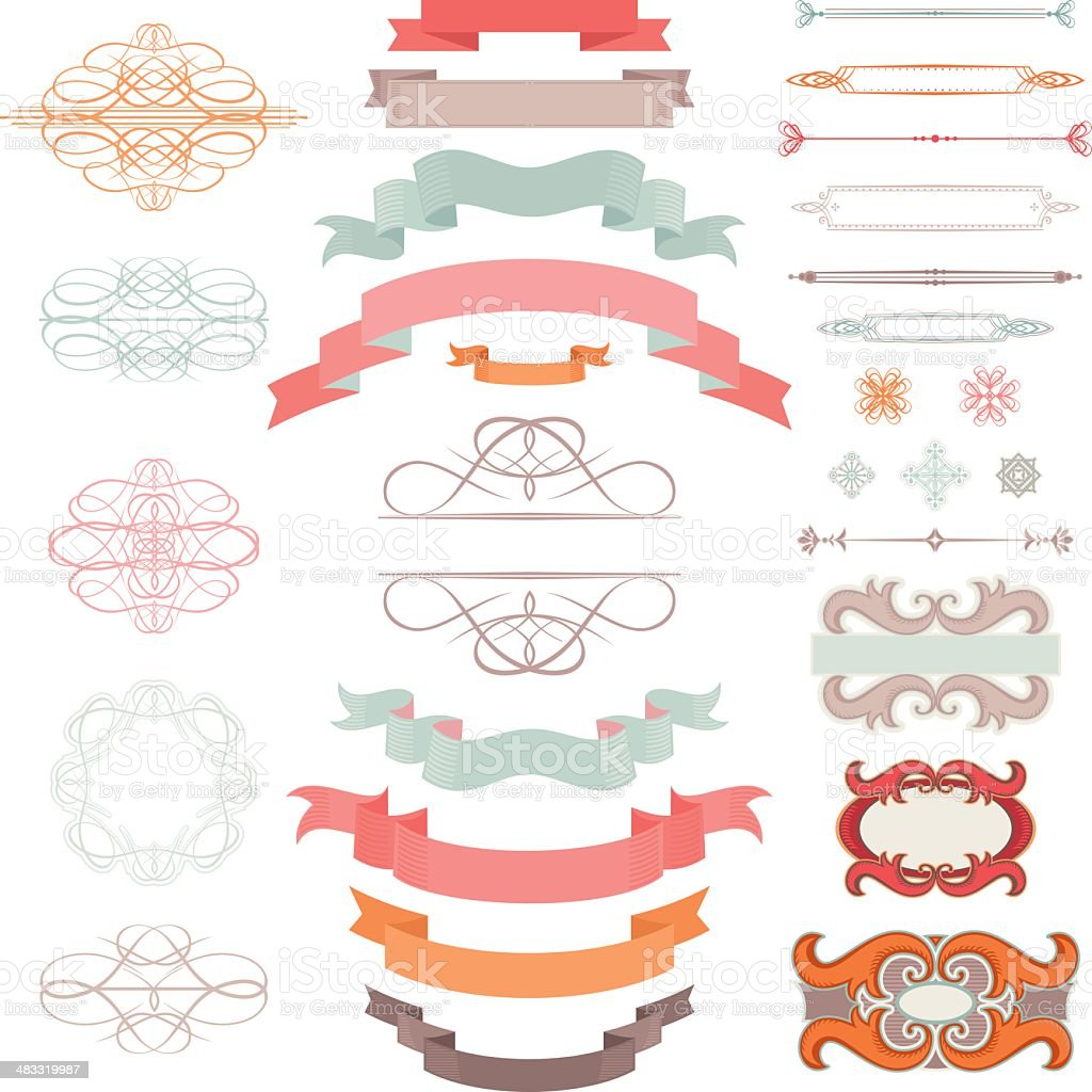 Vintage Design Elements royalty-free vintage design elements stock vector art & more images of antique