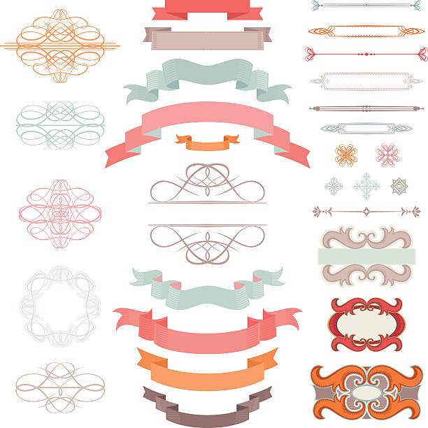 Vintage Design Elements vector art illustration