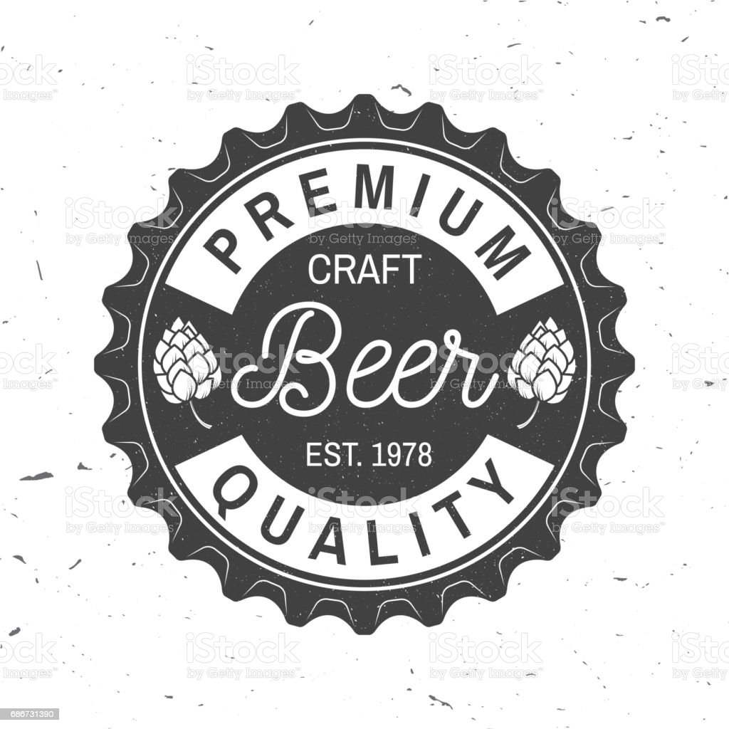 Vintage design for bar, pub and restaurant business vector art illustration