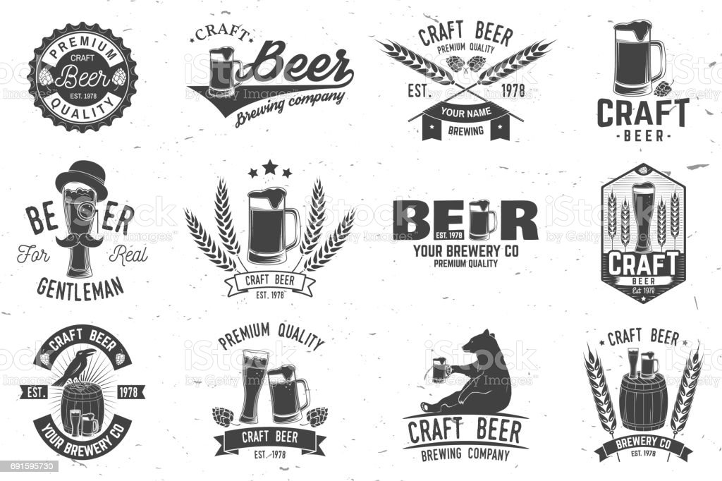 Vintage design for bar, pub and restaurant business - illustrazione arte vettoriale