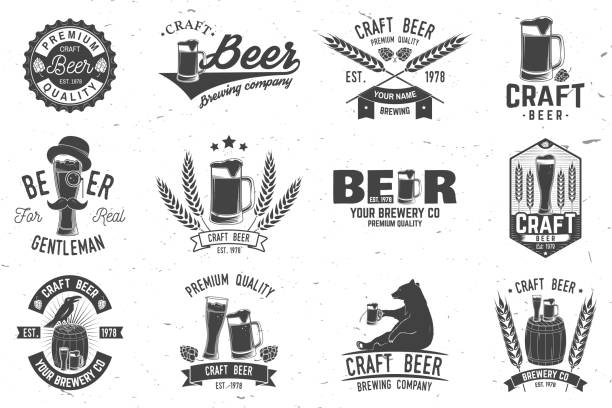 Vintage design voor bar, pub en restaurant business​​vectorkunst illustratie