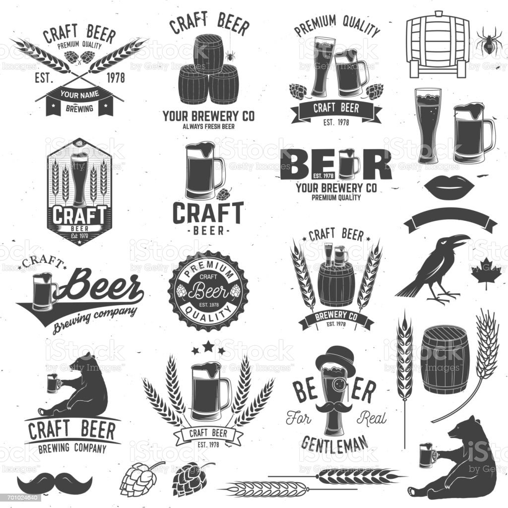 Vintage design for bar, pub and restaurant business. vector art illustration