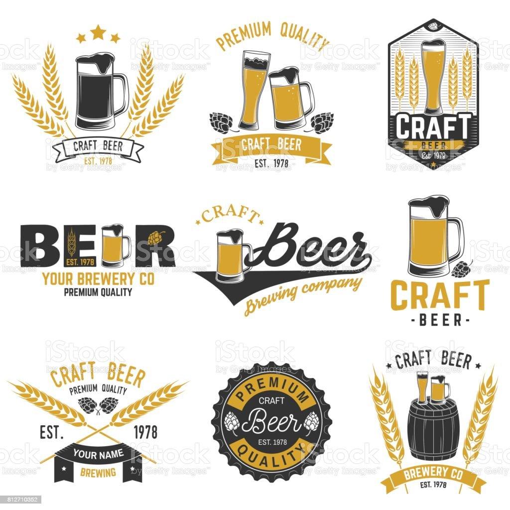 Vintage design for bar, pub and restaurant business vector art illustration