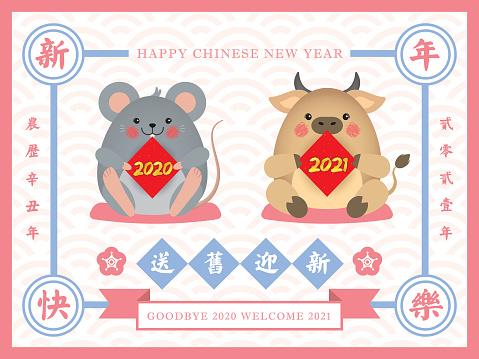 CNY vintage design - goodbye 2020 & welcome 2021