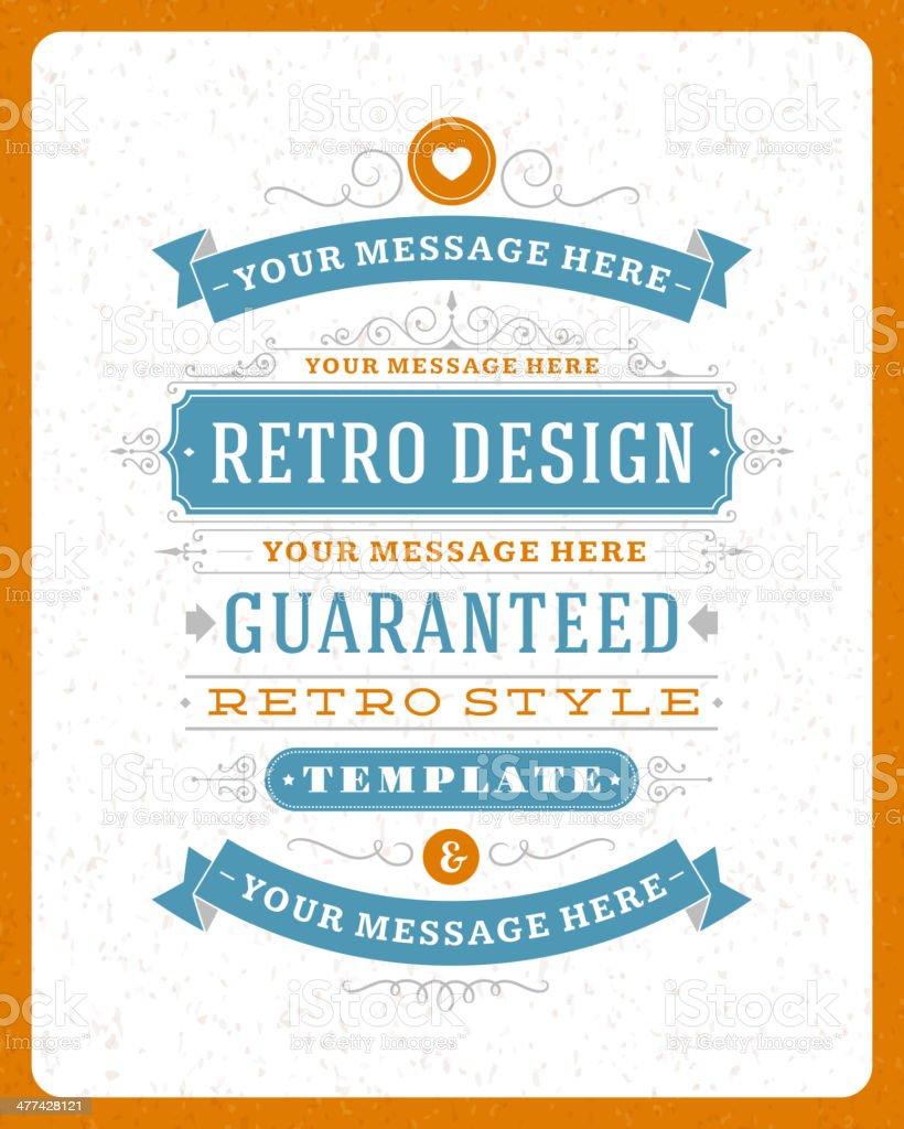 Vintage design template vector art illustration