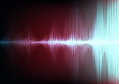 Vintage Digital Sound waves on Light background,technology and earthquake wave concept,design for music industry,Vector,Illustration.