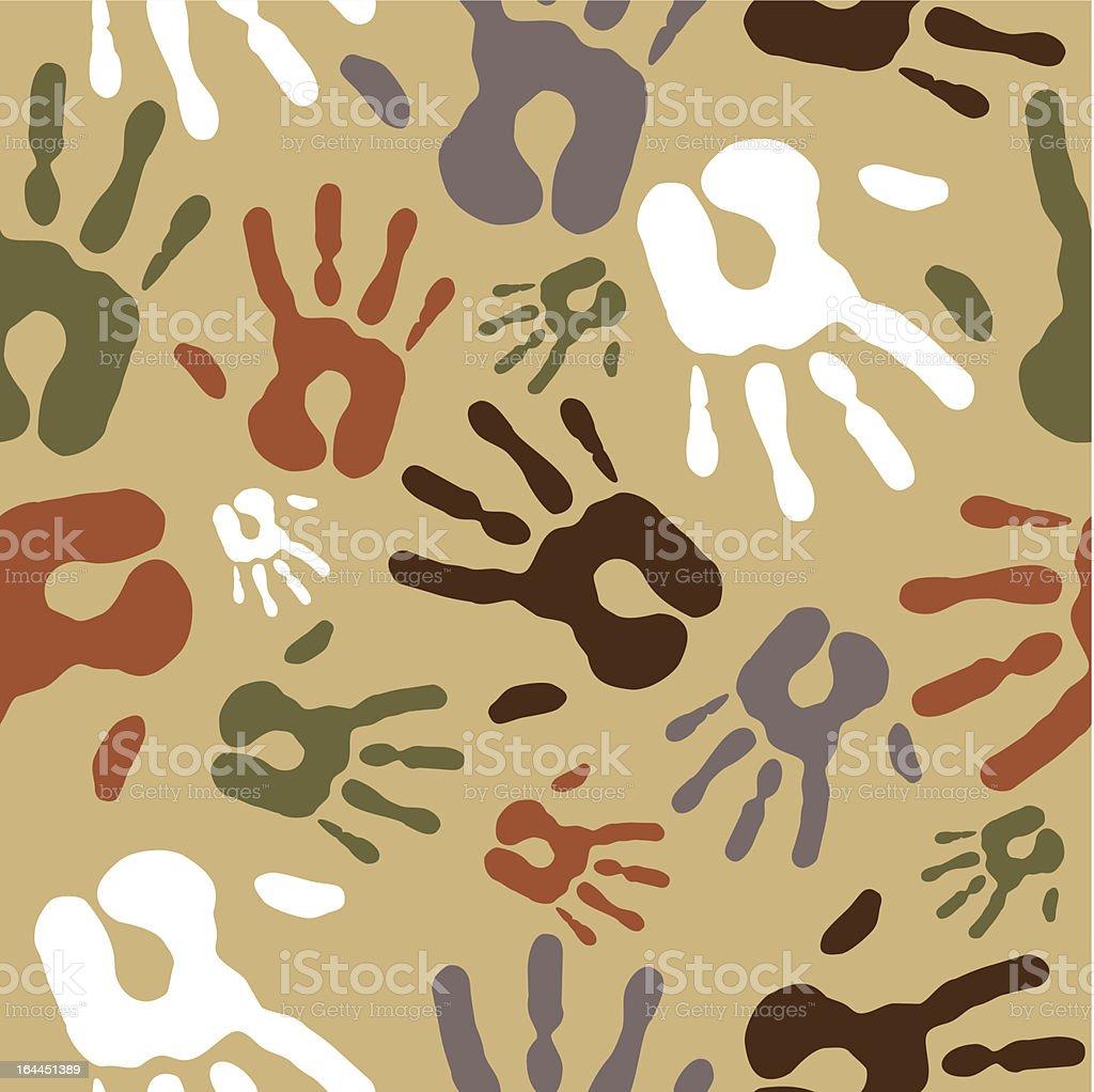 Vintage diversity hand prints pattern royalty-free vintage diversity hand prints pattern stock vector art & more images of adult