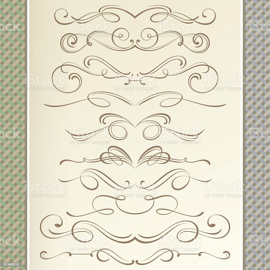 Vintage Dividers vector art illustration