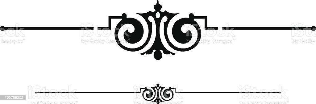Vintage Dividing Line Design Element royalty-free stock vector art