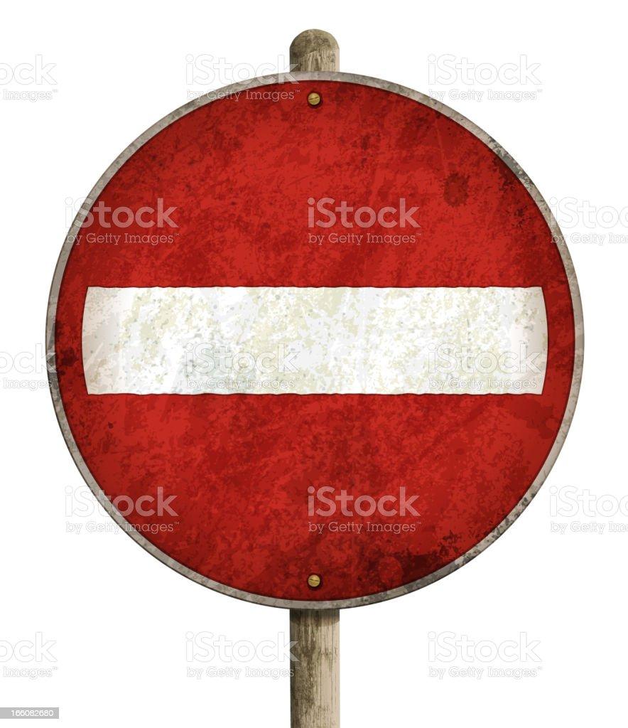 vintage do not enter traffic sign royalty-free stock vector art