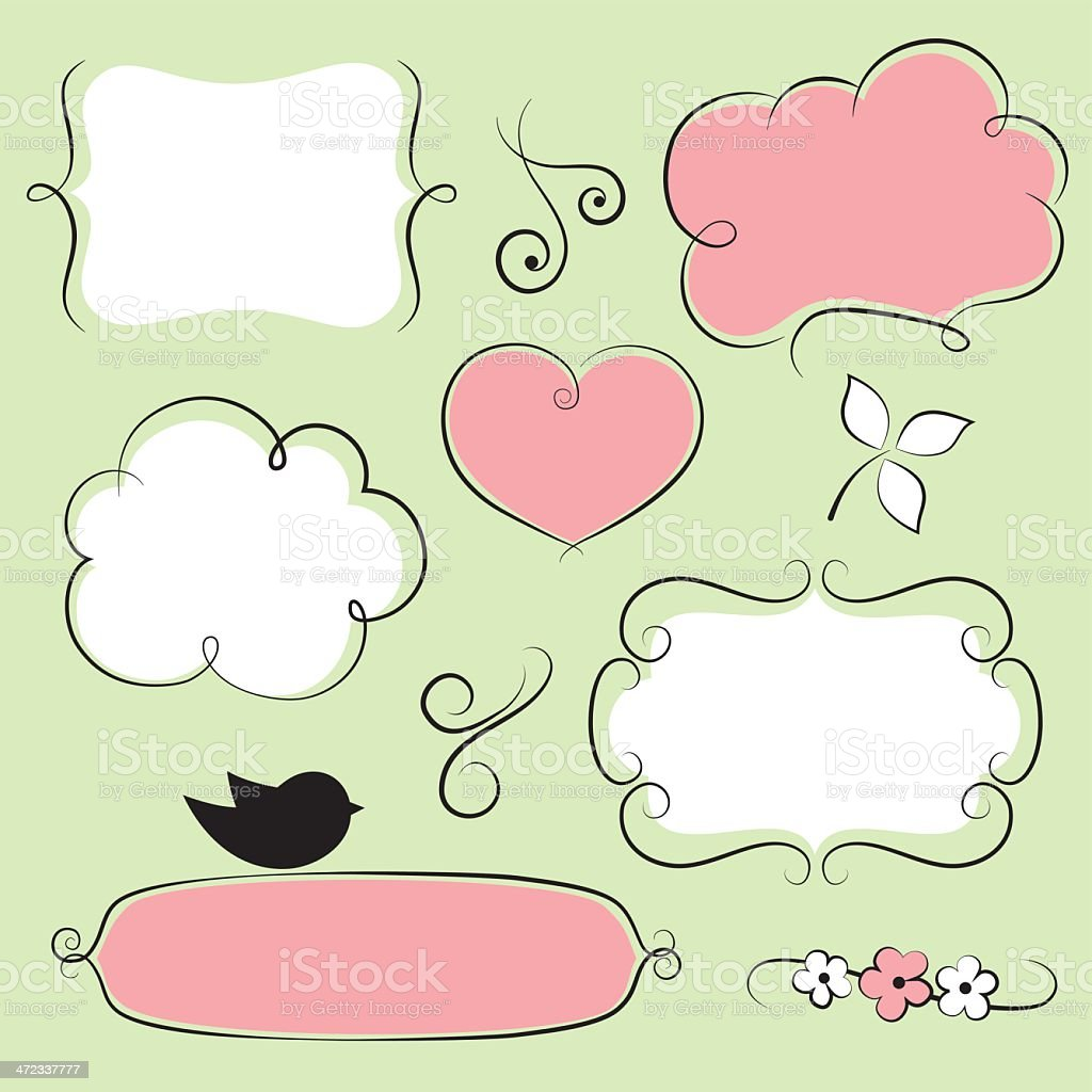 Vintage doodle frames royalty-free stock vector art