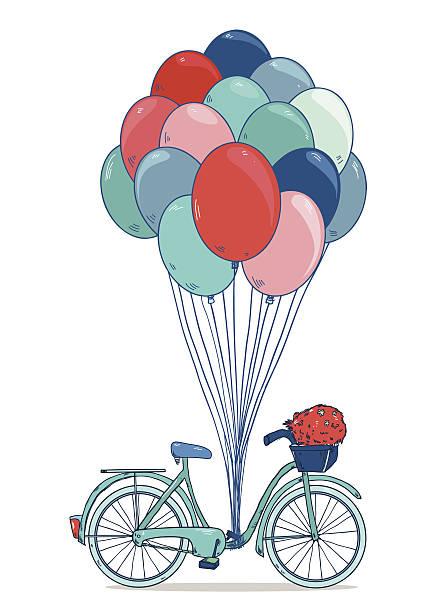 Vintage drawing bike vector art illustration