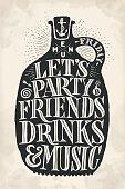 Vintage drawing cover menu for pub, bar, cafe and restaurant