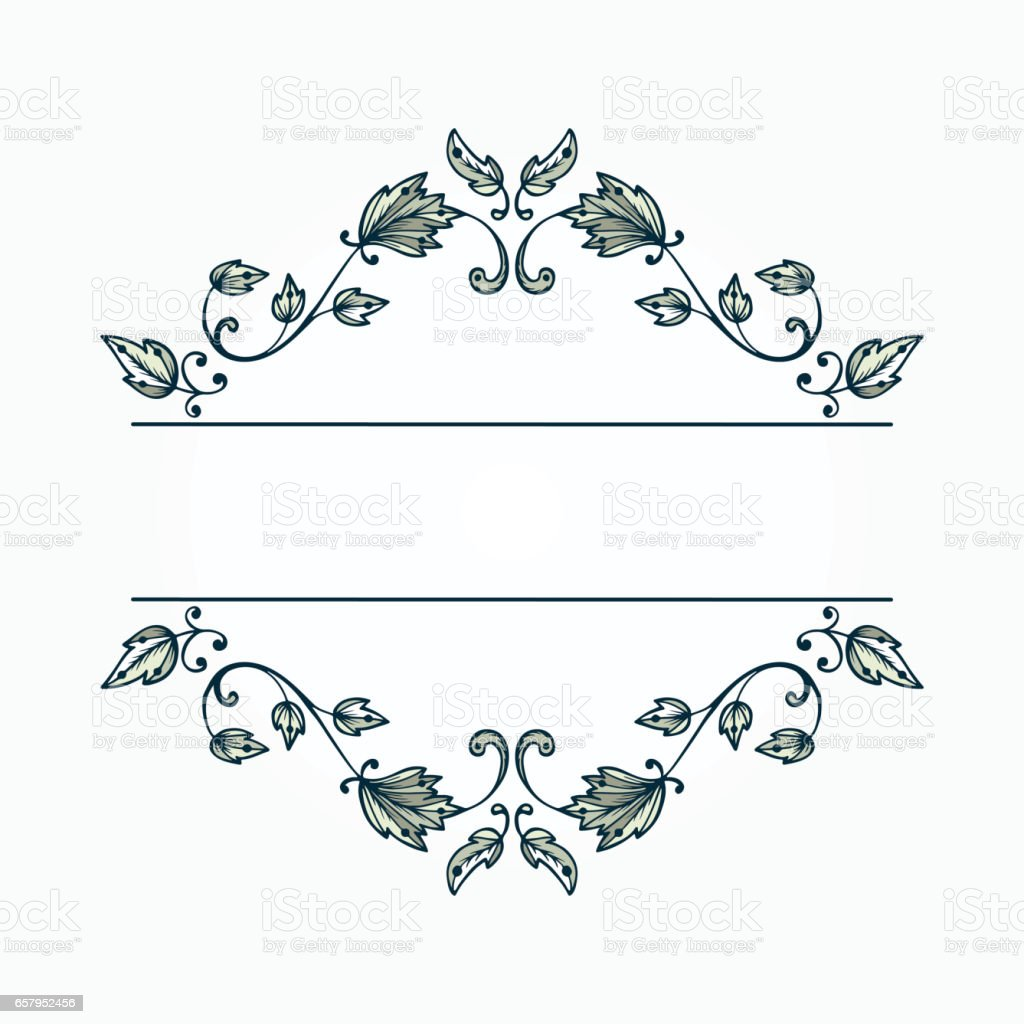 vintage elegant floral pattern border for design floral