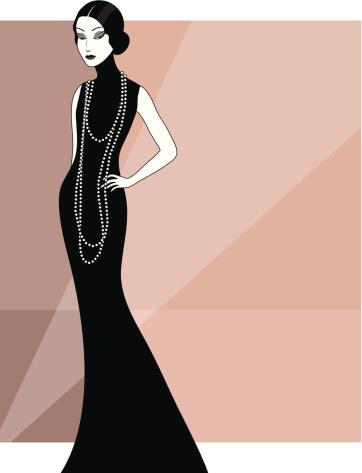Vintage elegant woman