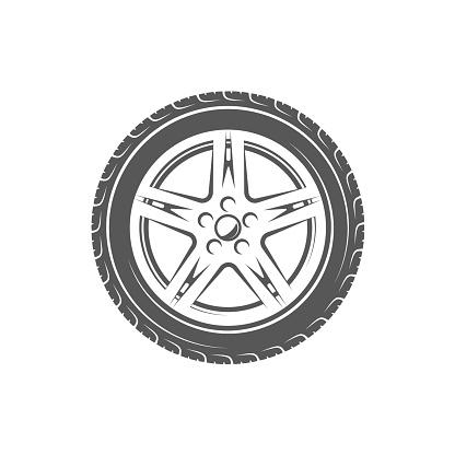 Vintage element of the car service