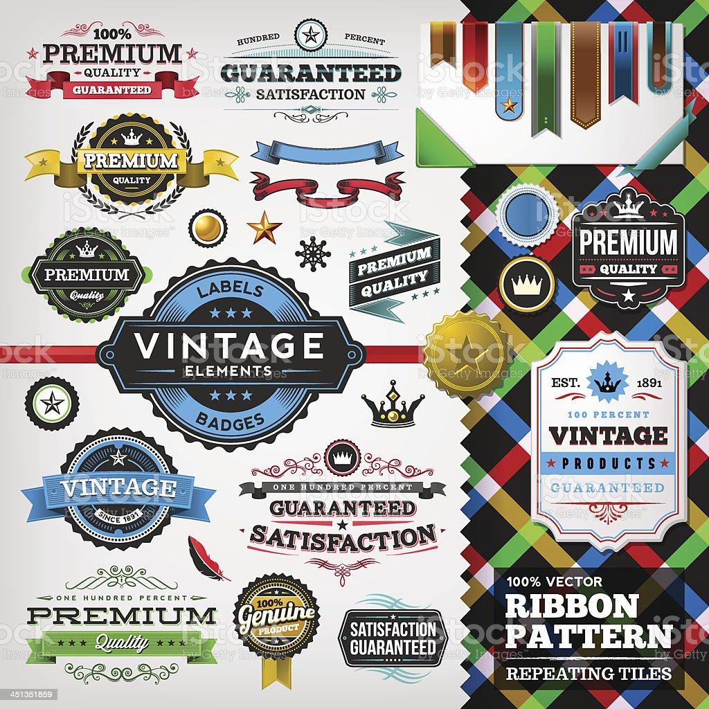 Vintage Elements Toolkit royalty-free stock vector art