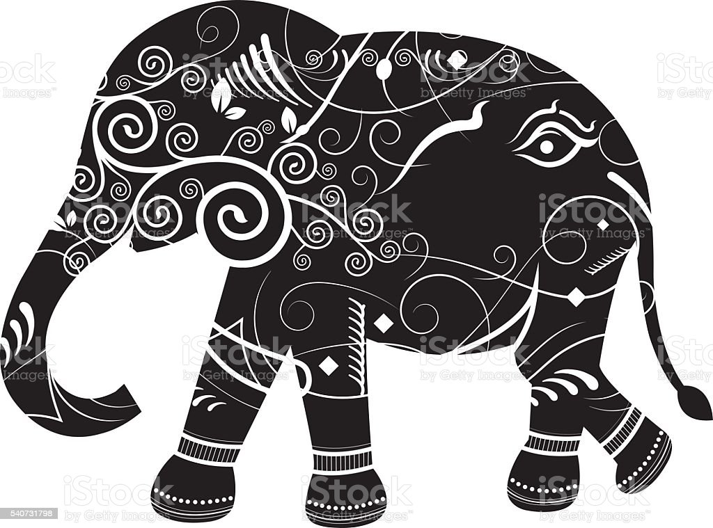vintage elephant vector cartoon stock vector art 540731798 | istock