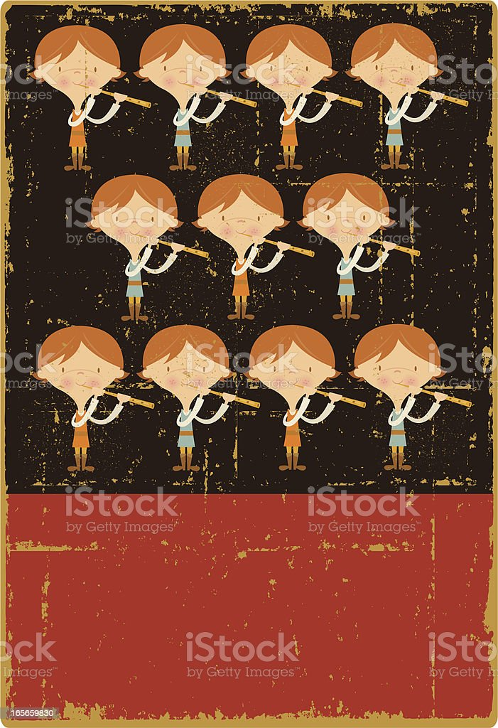 Vintage Eleven Pipers Piping royalty-free vintage eleven pipers piping stock vector art & more images of adult