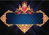 retro-styled ornate emblem, vector artwork
