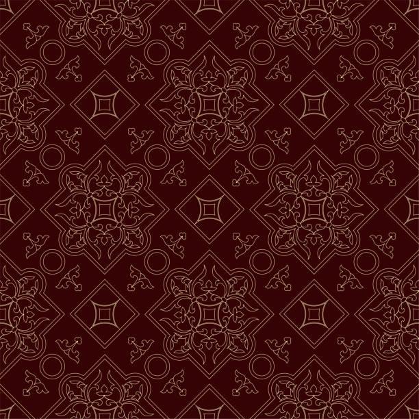 ヴィンテージエンドレスパターンブルゴーニュの背景 - ロココ調点のイラスト素材/クリップアート素材/マンガ素材/アイコン素材
