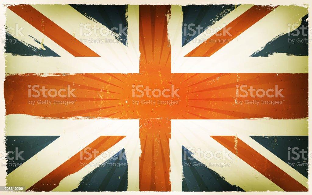 Poster Sfondo Vintage Con Bandiera Inglese Immagini Vettoriali